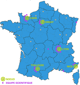 France HADRON nodes